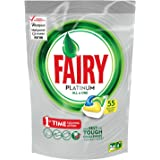 Fairy All in One Platinum Lemon Dishwasher Tablets, 55 Capsules