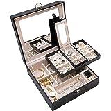 ProCase Jewelry Box Organizer, Large Capacity Portable Travel Jewelry Case 2 Layer Jewelry Display Versatile Storage Case wit