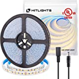 Waterproof Warm White LED Light Strip Premium High Density 3528 - 16.4 Feet 600 LEDs 3000K 164 Lumens per Foot. 12V DC. UL-Li