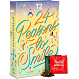 T2 Tea 24 Reasons to Smile: Loose Leaf Advent Calendar for Christmas 2021, Countdown to Christmas, 24 Assorted Loose Leaf Sac