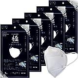 トミサワ 日本製 極HYBRID 不織布×冷感布マスク 3層構造 接触冷感素材採用 ノーズパッド付き 個包装 5枚入×5セット