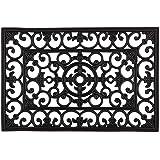 DII Indoor Outdoor Rubber Easy Clean Entry Way Welcome Doormat, Wrought Iron Large, 24x36