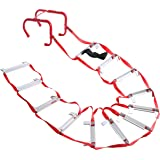 Emergency Fire Escape Ladder, Portable Ladder With Anti-Slip Rungs And Wide Steps V Center Support, Easy To Deploy & Easy To