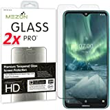 [2 Pack] MEZON Tempered Glass for Nokia 5.3 - Crystal Clear Premium 9H HD Screen Protector – Case Friendly, Shock Absorption