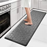 """WiseLife Kitchen Mat Cushioned Anti Fatigue Floor Mat,17.3""""x60"""",Thick Non Slip Waterproof Kitchen Rugs and Mats,Heavy Duty PV"""