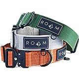 ROAM Premium Dog Collar - Adjustable Heavy Duty Nylon Collar with Quick-Release Metal Buckle (Oregon Haze, Size 3)