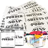 Talented Kitchen 138 Laundry Room Labels, Linen Closet & Office Organization Labels. Farmhouse, Printed Stickers. Water Resis