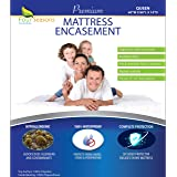 Four Seasons Essentials Queen Mattress Protector Bedbug Waterproof Zippered Encasement Hypoallergenic Premium Quality Cover P