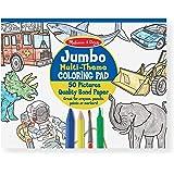 Melissa & Doug 4226 Jumbo 50-Page Kids' Coloring Pad - Space, Sharks, Sports, and More