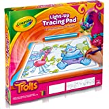 Crayola; Trolls Light-up Tracing Pad; Art Tool; Bright LEDs; Easy Tracing with 1 Pencil, 12 Colored Pencils, 10 Blank Sheets,