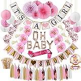 Baby Shower Decorations for Girl (or Gender Reveal) Baby Shower Decor with Pink Party Decorations, Baby Shower Balloons, Momm