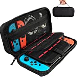 Hestia Goods Switch Carrying Case compatible with Nintendo Switch - 20 Game Cartridges Protective Hard Shell Travel Carrying