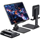 Anozer Foldable & Adjustable Tablet Stand, [2020 Updated] Extendable Compact Desktop Tablet Stand Holder Cradle Dock Compatib