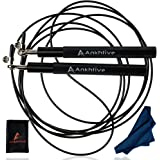 ANKHTIVE Speed Skipping Jump Rope Aluminium Handle, Bundle with Cooling Towel & Carrying Bag