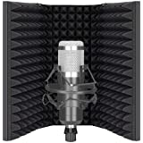 Neewer Pro Microphone Isolation Shield, 3-Panel Pop Filter, High Density Absorbent Foam Front & Vented Metal Back Plate, Comp