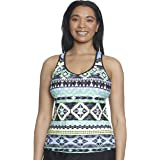 ZeroXposur Women's Plus Size Pow Wow Action Tankini
