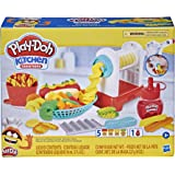 Play-Doh Kitchen Creations Spiral Fries Playset for Kids 3 Years and Up with Toy French Fry Maker, Play-Doh Drizzle, and 5 Mo
