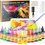 Titoclar Arts & Crafts for Girls & Boys Ages 6-12, Marbling Paint Kit for Kids, Idea for Children