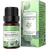 ASAKUKI Eucalyptus Essential Oil 10ml, 100% Pure Natural Essential Oils, Organic Aroma Essential Oil, Scented Oils for Diffus