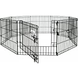 Petmate 48-Inch by 24-Inch 8 Panels Exercise Pen with Step Through Door