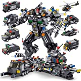 PANLOS STEM Robot Building Toys Engineering Building Bricks Armored Vehicles Kit Building Blocks for Kids 6 Years Old or Olde