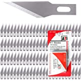 WA Portman Craft Knife Blades 100 Pack #11 Precision Knife Premium Grade Replacement Blades Compatible with X Acto Knives - P