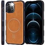 【Amazon限定ブランド】iPhone12 Pro Max ケース MagSafe対応 - 米軍軍事規格 スマホケース iPhone 12 Pro Max 高級PUレザー 耐衝撃 ワイヤレス充電対応 Arae アイフォン12 プロ マックス 202