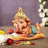 TIED RIBBONS Ganesh Idol for Home décor - Decorative Ganesha Statue for Diwali Decoration (16 cm X 12.9 cm)