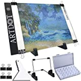 A4 LED Light Pad for Diamond Painting, USB Powered Light Board Kit, Adjustable Brightness with Detachable Stand and Clips