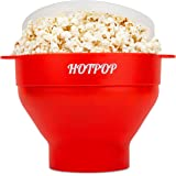 The Original Hotpop Microwave Popcorn Popper, Silicone Popcorn Maker, Collapsible Bowl Bpa Free and Dishwasher Safe- (Red)