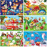 Wooden Jigsaw puzzles for kids ages 3-5 Year Old 30 Piece Colorful Wooden Puzzles for Toddler Children Learning Educational P