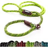 Extremely Durable Dog Slip Rope Leash Premium Quality Mountain Climbing Lead Strong Sturdy Support Pull for Large and Medium