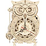 ROKR 3D Puzzle Owl Clock Model DIY Craft Kits Mechanical Puzzles for Teens and Adults