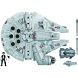 Star Wars Mission Fleet Han Solo Millennium Falcon 2.5-Inch-Scale Figure and Vehicle, Toys for Kids Ages 4 and Up