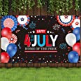 Sumind 4th of July PartyBackdropFabricPatrioticSignBannerIndependence Day Theme Party BackgroundPatriotic Hanging Bann