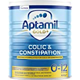 Aptamil Gold+ Colic & Constipation Baby Infant Formula from Birth to 12 Months, 900 g