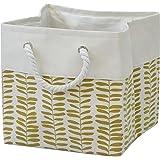 T&T Homewares, Storage Bin, Laundry basket, Canvas Fabric Collapsible Organizer Basket for Laundry Hamper, Toy, Kids, Pets ,B