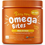 Zesty Paws Omega 3 Alaskan Fish Oil Chew Treats For Dogs - With Alaskomega For Epa & Dha Fatty Acids - For Shiny Coats & Itch
