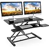 FITUEYES スタンディングデスク 高さ調整可 昇降式多機能畳 オフィスワークテーブル 折りたたみ無段階座位立位両用 机上デスク ラップデスク パソコン/モニター台 SD308001WB