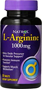 Natrol - L-アルギニン 1000 mg 50錠剤