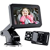 Baby-Car-Mirror-Baby-Car-Camera for the-Back Seat - with 4.3'' HD Display, Night Vision, Wide View, Stable Sucker Bracket, Ca