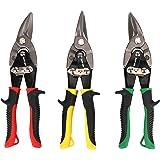 Hurricane 02-003 10 Inch Aviation Tin Snips Set 3 Pack, Chrome Vanadium Steel