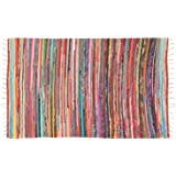 """Marubhumi Reversible Area Runner Chindi Rug for Bedroom, Living Room, Kitchen, or Laundry Room 100% Recycled Cotton (20""""x 32"""""""
