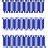 Pasow 100pcs 6-Inch Reusable Fastening Cable Ties Adjustable Cable tie Wire Management - Blue