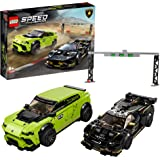 LEGO Speed Champions 76899 Lamborghini Urus ST-X and Lamborghini Huracán Super Trofeo EVO Building Kit (663 Pieces)