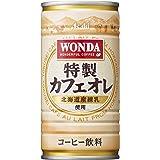 アサヒ ワンダ 特製カフェオレ (185g缶×30本)×3ケース