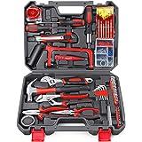 Household Repair Tool Set - Arrinew 108 Pcs High Grade Alloy Steel hand Tool Kit with Platsic Toolbox, Repair Hand Tools Set