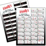 Guitar Chord Chart ~The Most Common Chords, Durable Laminated Low-Glare, Easy Chord Chart For Guitar