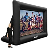 Inflatable Projector Screen 20 feet Portable Inflation Home Theater Projector Screen 16:9 4K HD Outdoor and Courtyard Inflata