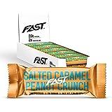 FAST Brands Salted Caramel Peanut Crunch, 20 Gram Protein Bars, 12 Count